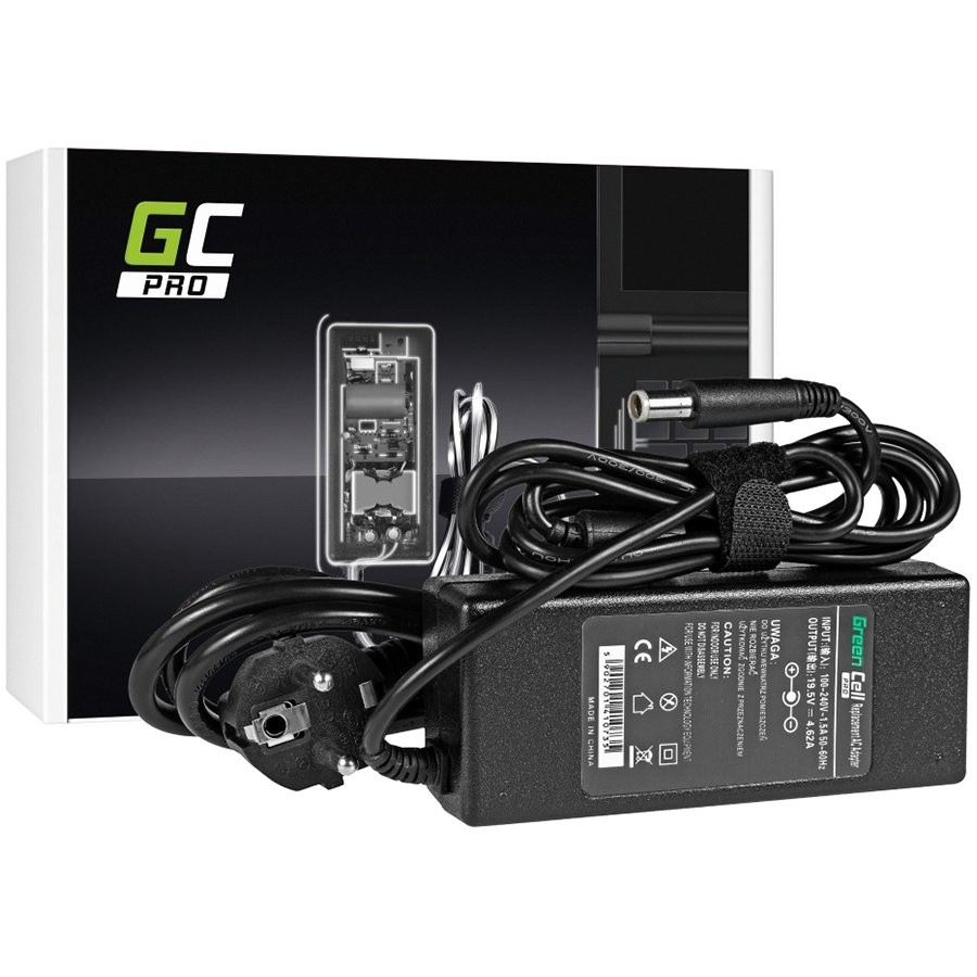 Green Cell PRO Charger AC Adapter for Dell 90W 19.5V 4.62A / 7.4mm-5.0mm