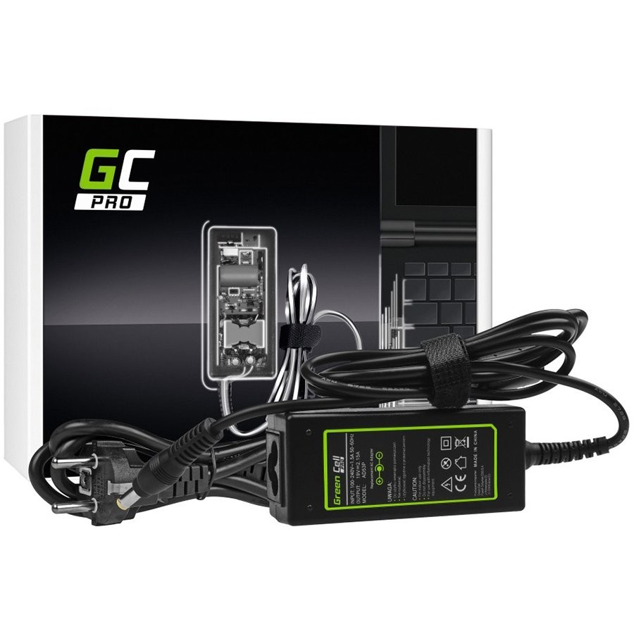 Green Cell PRO Charger AC Adapter for Acer Aspire One 531 533 1225 D255 D257 D260 D270 ZG5 19V 2.15A 40W
