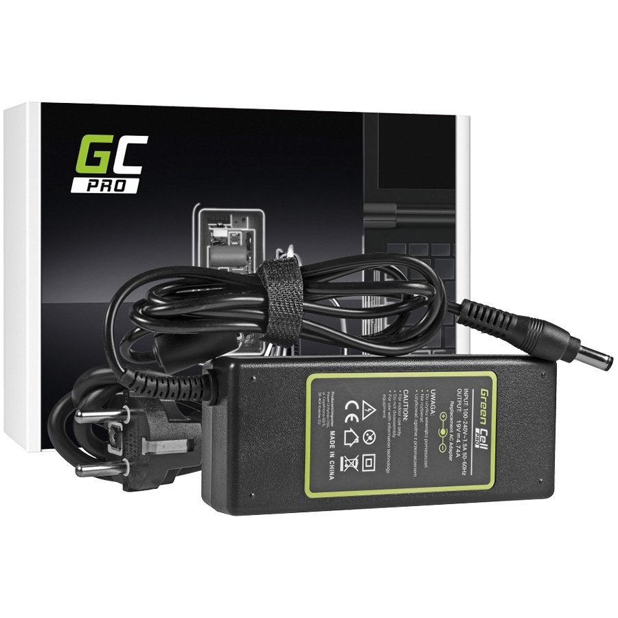 Green Cell PRO Charger / AC Adapter for Asus K50IJ K52 K52J K52F X53S K53S X54H X54C Toshiba Satellite A200 A300 19V 4.74A