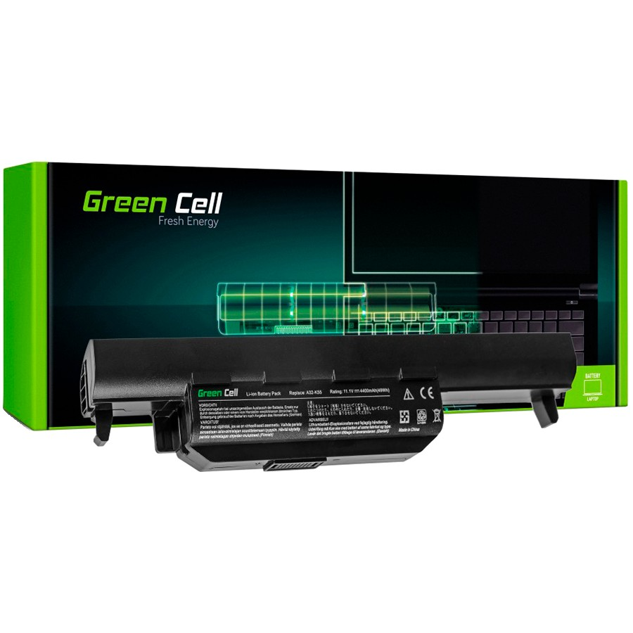 Green Cell Battery for Asus A32-K55 A45 A55 K45 K55 K75 / 11,1V 4400mAh