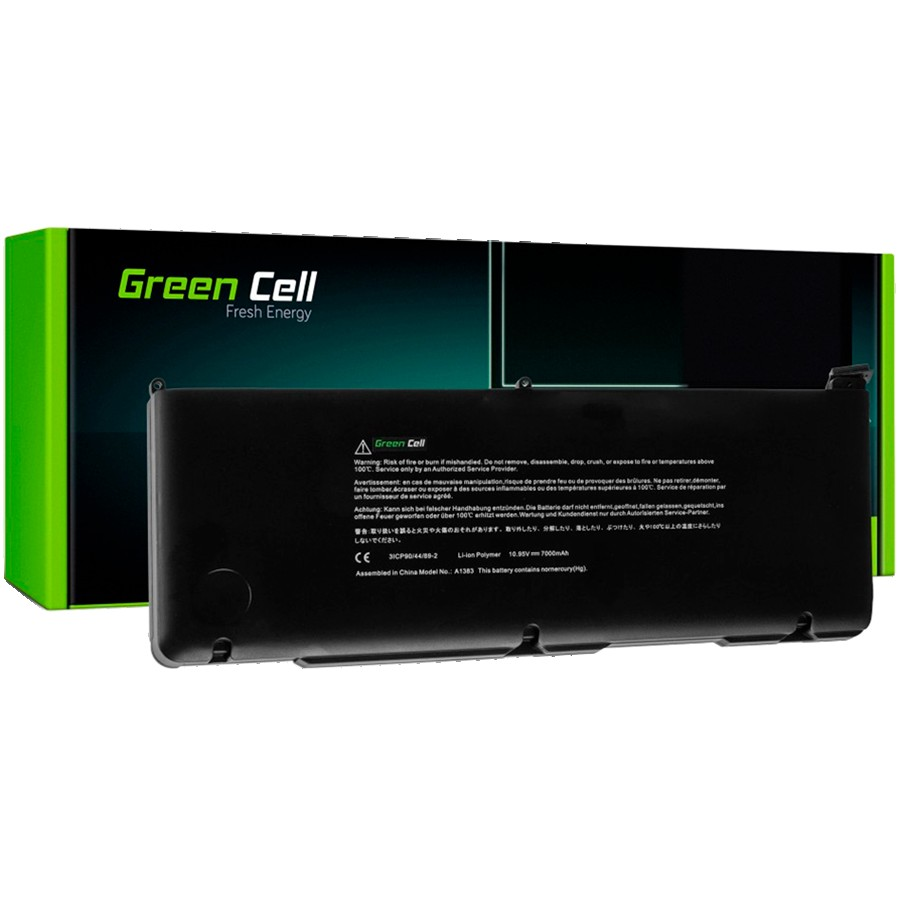 Green Cell Battery for Apple Macbook Pro 17 A1297 2011 / 10,95V 7000mAh