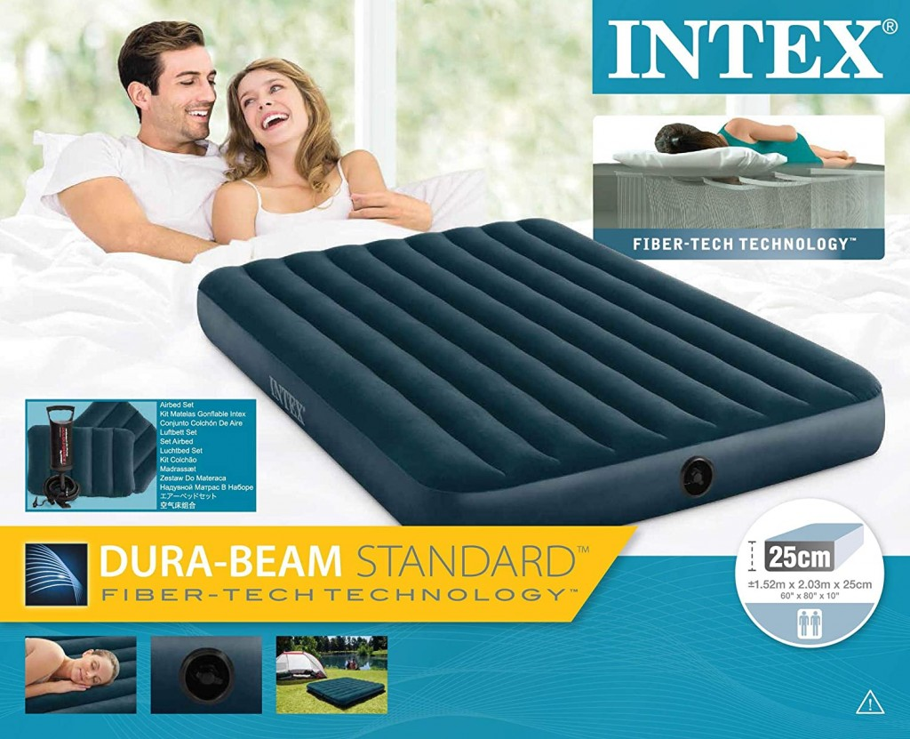 Intex Downy Airbed 64736 Midnight Green