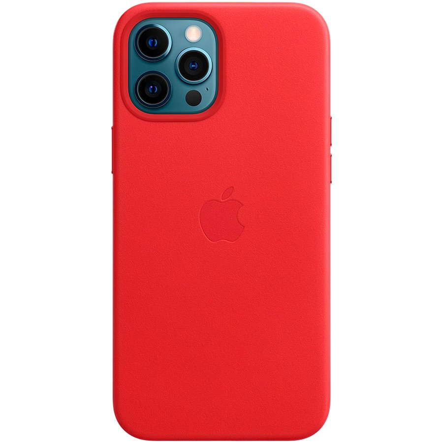 iPhone 12 Pro Max Leather Case with MagSafe - (PRODUCT)RED