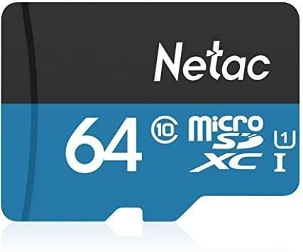 MEMORY MICRO SDXC 64GB UHS-I/W/A NT02P500STN-064G-R NETAC