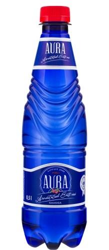 Vesi AURA SPRING, pohlamaitseline, kergelt karboniseeritud, 0,5L, plastpudel