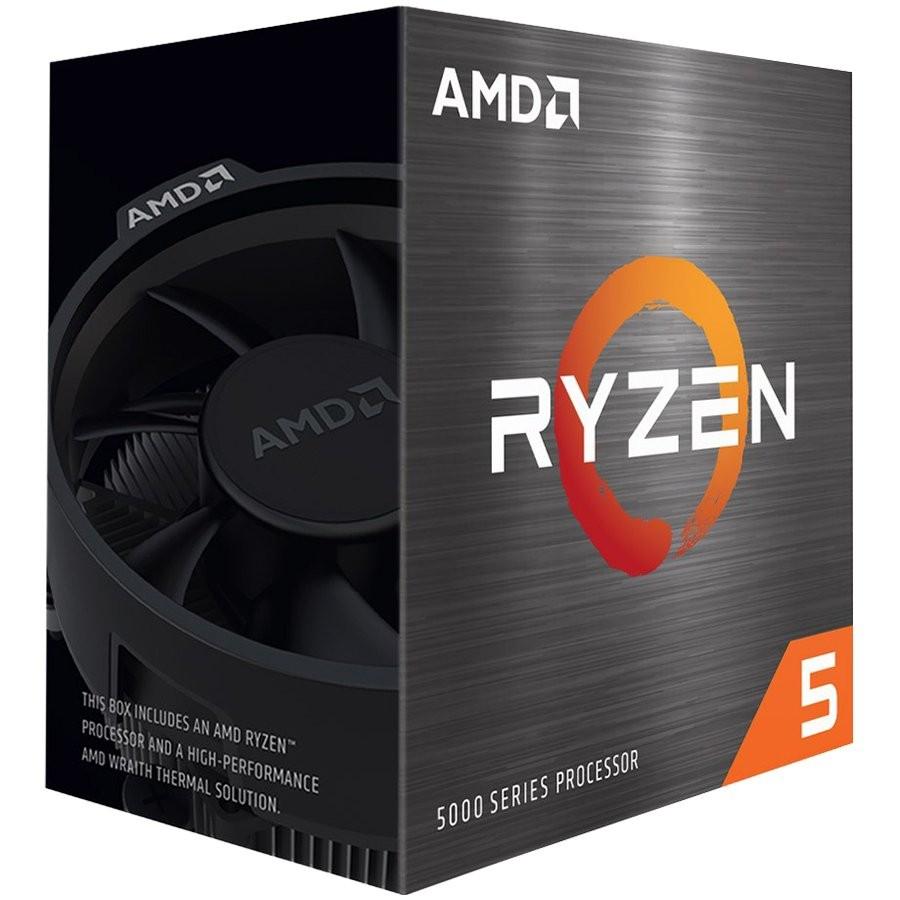AMD CPU Desktop Ryzen 5 6C/12T 5600X (3.7/4.6GHz Max Boost,35MB,65W,AM4) box with Wraith Stealth Cooler