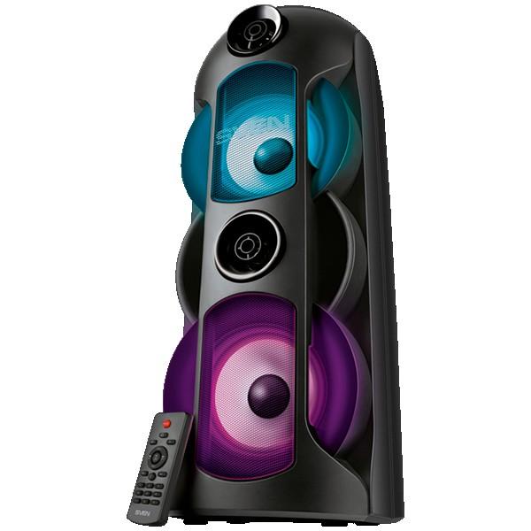 Speaker SVEN PS-720, black (80W, TWS, Bluetooth, FM, USB, microSD, LED-display, 2x4400mA*h)