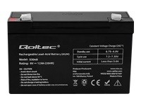 QOLTEC AGM battery 6V 12Ah