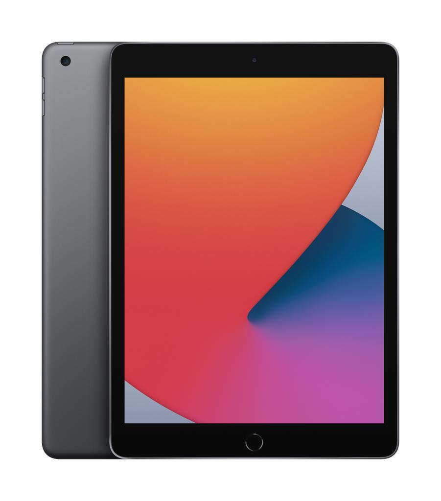 "Apple 8th Gen (2020) iPad Wi-Fi 10.2 "", Space Grey, Retina touch screen with IPS, Apple A12 Bionic, 3 GB, 128 GB, Wi-Fi, Front camera, 1.2 MP, Rear camera, 8 MP, Bluetooth, 4.2, iPadOS, 14.0"