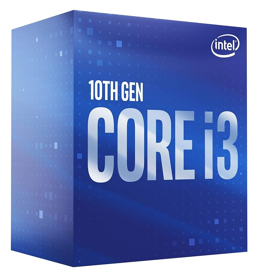 Intel i3-10100F, 3.6 GHz, LGA1200, Processor threads 8, Packing Retail, Processor cores 4, Component for PC