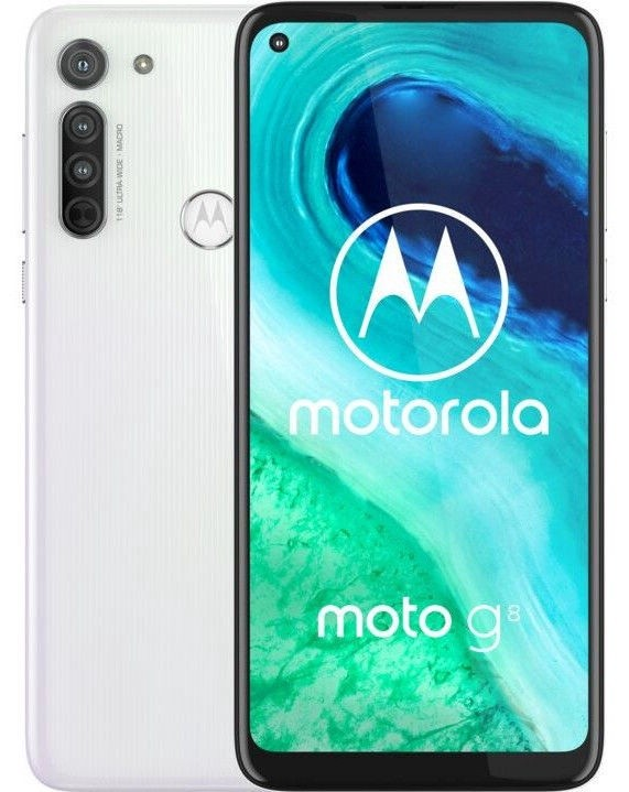 "Motorola Moto G8 White, 6.4 "", IPS LCD, 720 x 1560 pixels, Qualcomm SM6125 Snapdragon 665, Internal RAM 4 GB, 64 GB, microSDXC, Dual SIM, Nano-SIM, 3G, 4G, Main camera 16+8+2 MP, Secondary camera 8 MP, Android, 10.0, 4000 mAh"