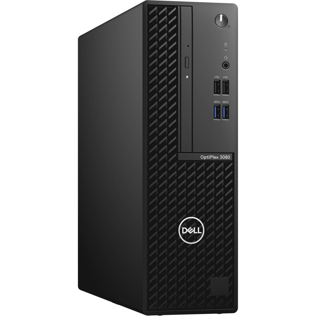 Dell OptiPlex 3080 Desktop, SFF, Intel Core i3, i3-10100, Internal memory 8 GB, DDR4, SSD 256 GB, Intel HD, 8x DVD+/-RW 9.5mm Optical Disk Drive, Keyboard language English, Windows 10 Pro, Warranty Basic NBD Onsite 36 month(s)