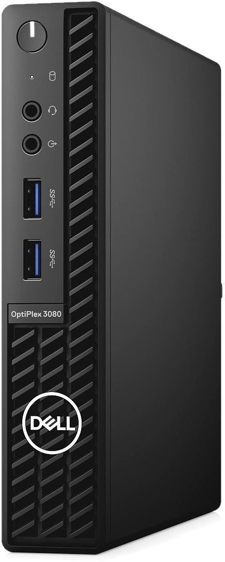 Dell OptiPlex 3080 Desktop, Micro, Intel Core i3, i3-10100T, Internal memory 8 GB, DDR4, SSD 256 GB, Intel HD, Keyboard language English, Windows 10 Pro, Warranty Basic NBD Onsite 36 month(s)