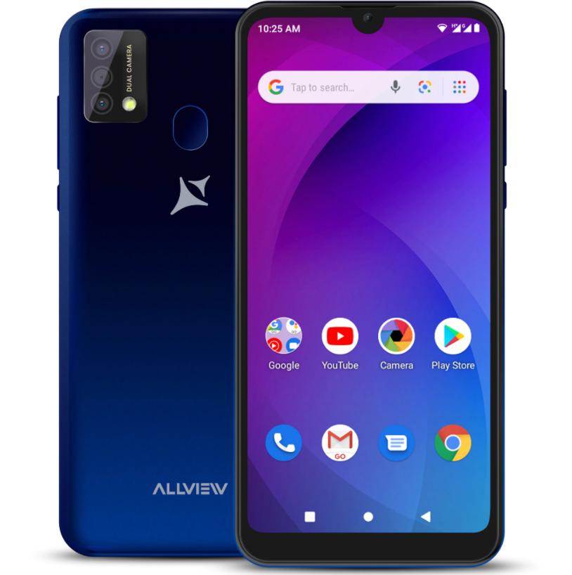 "Allview A20 Max Blue, 6.25 "", 1014 x 480, Cortex-A7 Quad-core, Internal RAM 1 GB, 16 GB, Micro SD, Dual SIM, Micro SIM, 3G, Main camera 8+0.3 MP, Secondary camera 5 MP, Android, 10.0, 3800 mAh"
