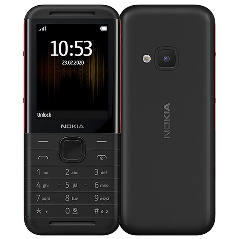 "Nokia 5310 Black/Red, 2.1 "", TFT, 240 x 320 pixels, 8 MB, 30 MB, Dual SIM, Mini-SIM, Bluetooth, 3.0, USB version microUSB 1.1, Built-in camera, 1200 mAh"