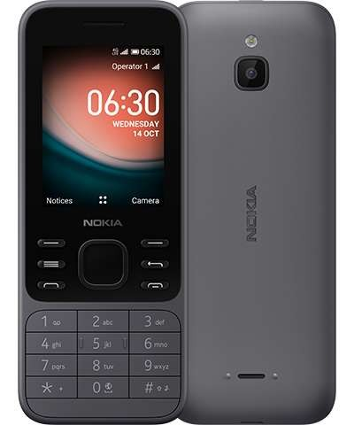 "Nokia 6300 4G Charcoal, 2.4 "", TFT, 240 x 320 pixels, 512 MB, 4000 MB, Dual SIM, Nano-SIM, 3G, Bluetooth, USB version microUSB, Built-in camera, 1500 mAh, KaiOS"