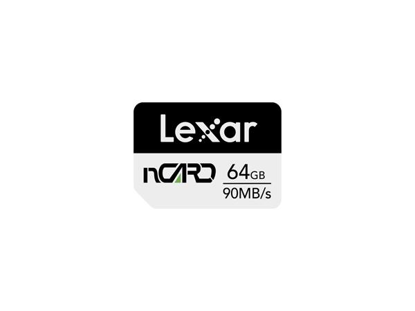 Lexar nCARD 64 GB, Black/Grey, 70 MB/s, 90 MB/s