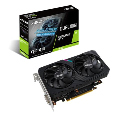 Asus DUAL-GTX1650-O4GD6-MINI NVIDIA, 4 GB, GeForce GTX 1650, GDDR6, PCI Express 3.0, Processor frequency 1620 MHz, DVI-D ports quantity 1, HDMI ports quantity 1, Memory clock speed 1650 MHz