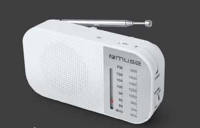 Muse M-025 RW, Portable radio, White