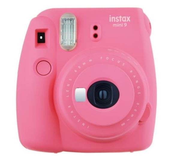 Instax Mini 9 pink + 10 pcs glossy + case leath