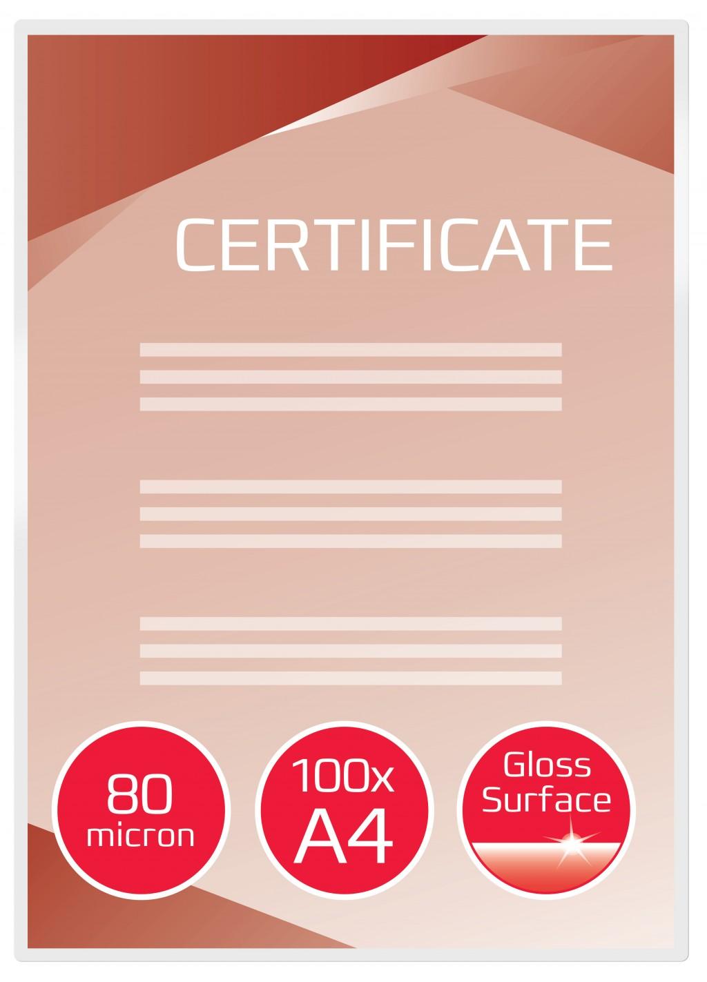 Lamineerimistaskud GBC A4 80Mic (100 gab)