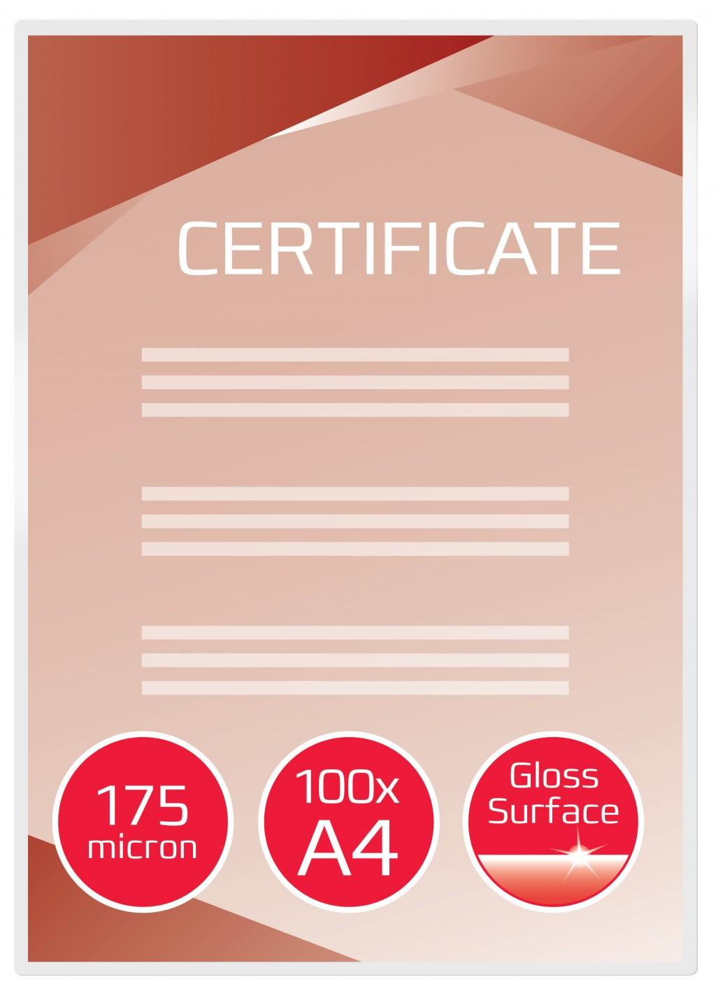 Lamineerimistaskud GBC A4 175Mic (100 gab)
