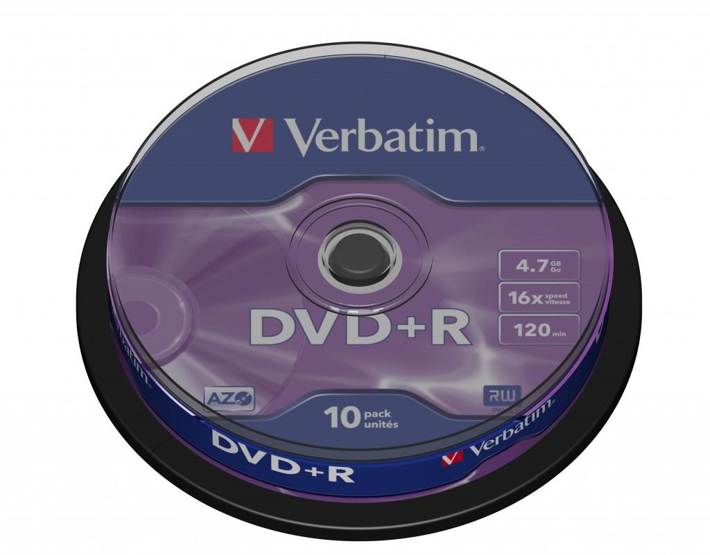 Verbatim DVD+R Matt Silver 4,7 GB 10 tk