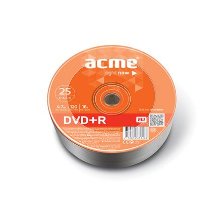 Acme DVD+R 4.7 GB, 16 x, 25 Pcs. Shrink