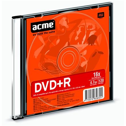 Acme DVD+R 4.7 GB, 16 x, Slim Box