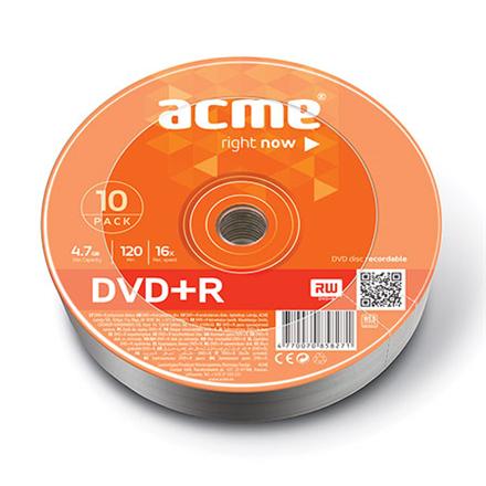 Acme DVD+R 4.7 GB, 16 x, 10 Pcs. Shrink