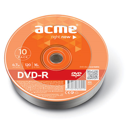 Acme DVD-R 4.7 GB, 16 x, 10 Pcs. Shrink