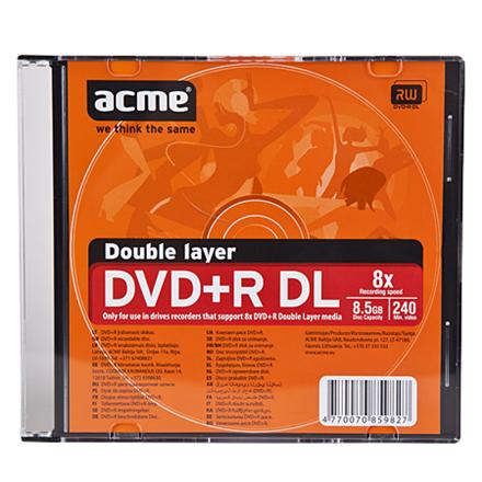 Acme DVD+R Double Layer 8.5 GB, 8 x, Slim Box