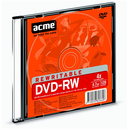 Acme DVD-RW 4.7 GB, 4 x, Plastic Slim Box