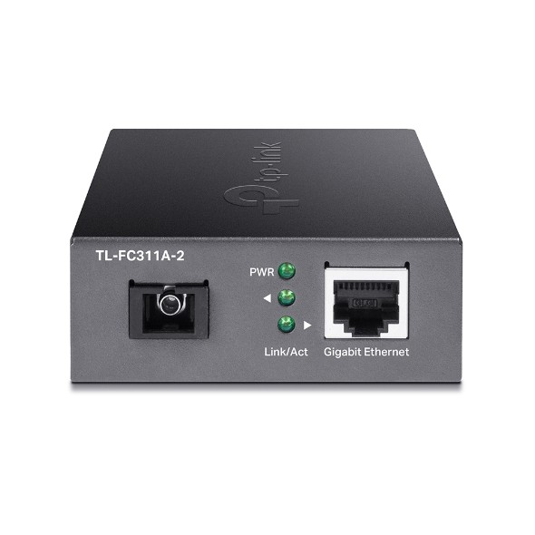 TP-LINK Gigabit Single-Mode WDM Media Converter TL-FC311A-2 Gigabit SC Fiber Port, 10/100/1000 Mbps RJ45 Port (Auto MDI/MDIX)