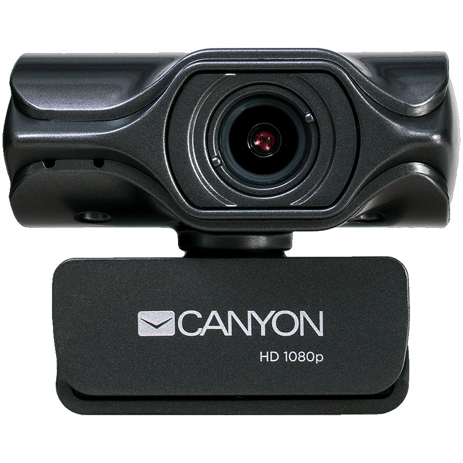 CANYON C6 2k Ultra full HD 3.2Mega webcam with USB2.0 connector, built-in MIC, IC SN5262, Sensor Aptina 0330, viewing angle 80°, with tripod, cable length 2.0m, Grey, 61.1*47.7*63.2mm, 0.182kg