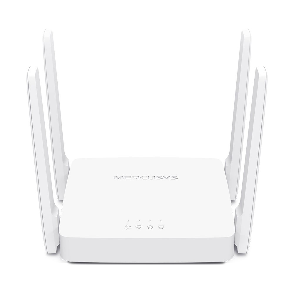 Mercusys Dual-Band Router AC10 802.11ac, 300+867 Mbit/s, 10/100 Mbit/s, Ethernet LAN (RJ-45) ports 2, Antenna type 4xFixed, White