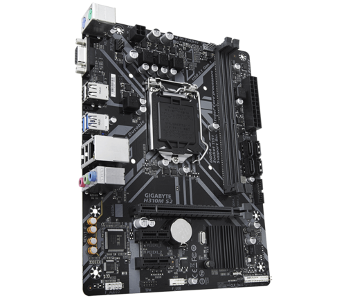 Gigabyte H310M S2 1.0 Processor family Intel, Processor socket  LGA1151, DDR4 DIMM, Memory slots 2, Number of SATA connectors 4, Chipset Intel H, Micro ATX