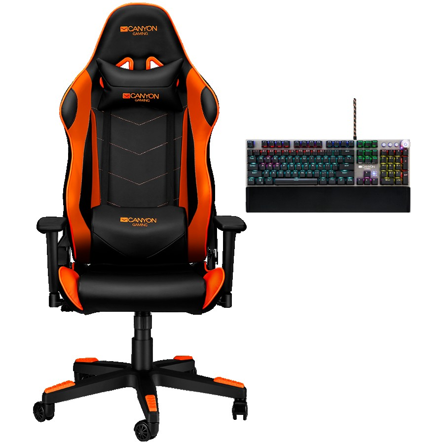 Canyon Gaming Chair Deimos CND-SGCH4 + gift Canyon Nightfall Mechanical Gaming Keyboard