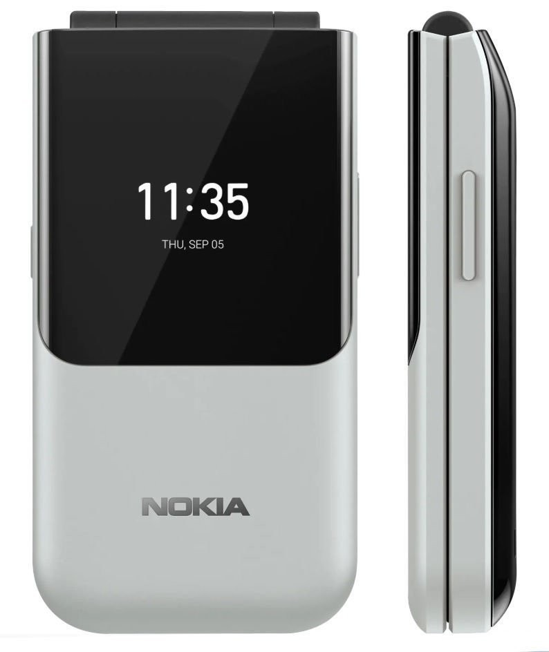 "Nokia 2720 Flip 2.8 "", Nordic Grey, TFT, 240 x 320 pixels, Qualcomm MSM8905 Snapdragon 205, Dual SIM, 2, Nano-SIM, 4.2, Internal RAM 4 GB, 512 GB, 3G, 4G, Main camera 2 MP, KaiOS, 1500 mAh"