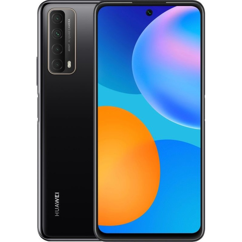 "Huawei P Smart Black, 6.67 "", IPS LCD, 1080 x 2400 pixels, Kirin 710A, Internal RAM 4 GB, 128 GB, MicroSDXC, Dual SIM, Nano-SIM, 3G, 4G, Main camera 48+8+2+2 MP, Secondary camera 8 MP, Android, 10.0, 5000 mAh"