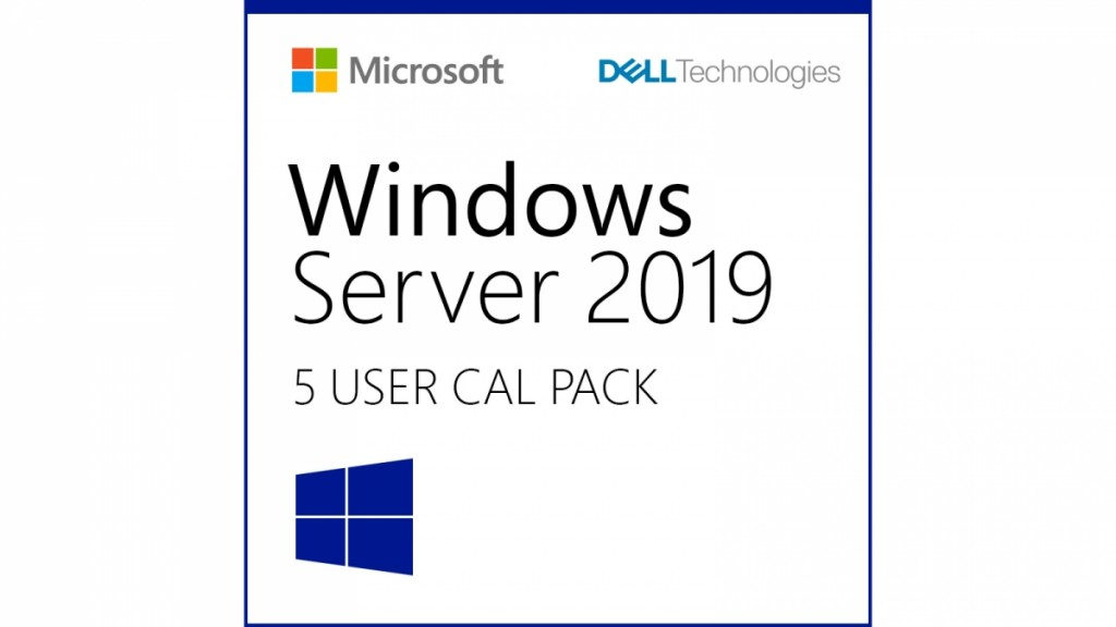 Dell Windows Server 2019/2016 User CALs (STD or DC) Cus Kit, 5-pack