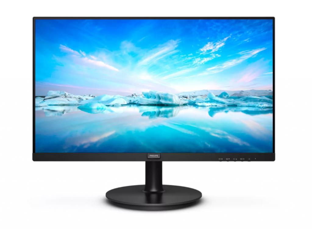 "Philips LCD Monitor 242V8LA/00 23.8  "", FHD, 1920 x 1080 pixels, VA, 16:9, Black, 4 ms, 250 cd/m², Headphone out, 75 Hz, W-LED system, HDMI ports quantity 1"