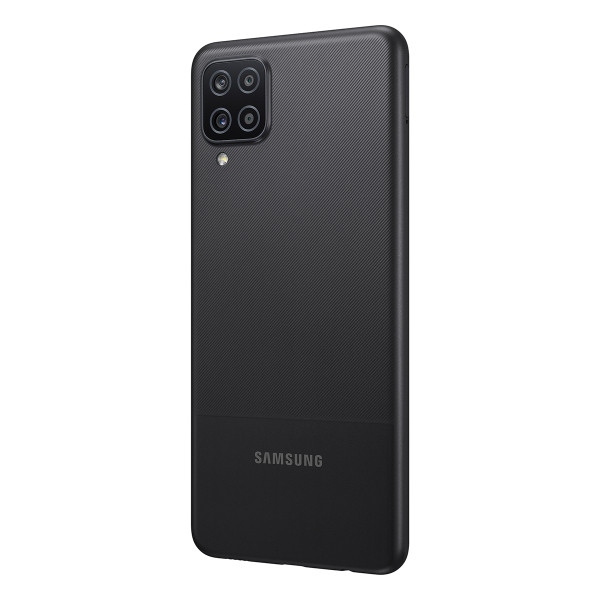 "Samsung Galaxy A12 A125 Black, 6.5 "", PLS TFT LCD, 720 x 1600, Internal RAM 4 GB, 64 GB, microSDXC, Dual SIM, Nano-SIM, 3G, 4G, 5G, Main camera 48+5+2+2 MP, Secondary camera 8 MP, Android, 10.0, 5000 mAh"