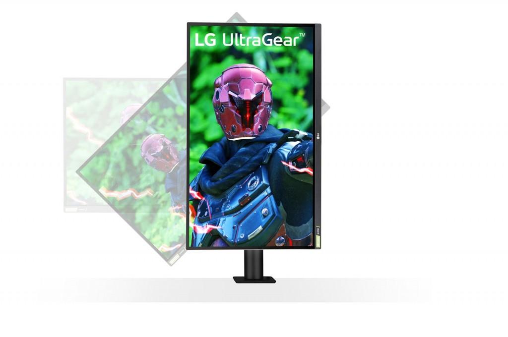 "LG UltraGear Ergo Gaming Monitor 27GN880-B 27 "", IPS, QHD, 2560 x 1440 pixels, 16:9, 1 ms, 350 cd/m², Black"