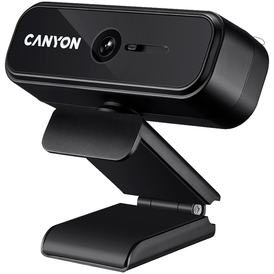 CANYON C2 720P HD 1.0Mega fixed focus webcam with USB2.0. connector, 360° rotary view scope, 1.0Mega pixels, built in MIC, Resolution 1280*720(1920*1080 by interpolation), viewing angle 46°, cable length 1.5m, 90*60*55mm, 0.104kg, Black