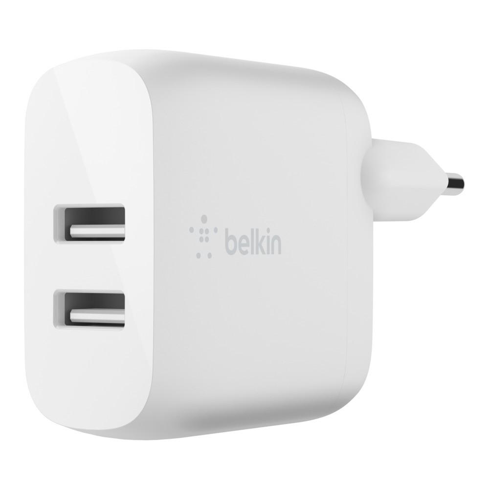 BELKIN Dual USB-A WallCharger 12W X2 WHT