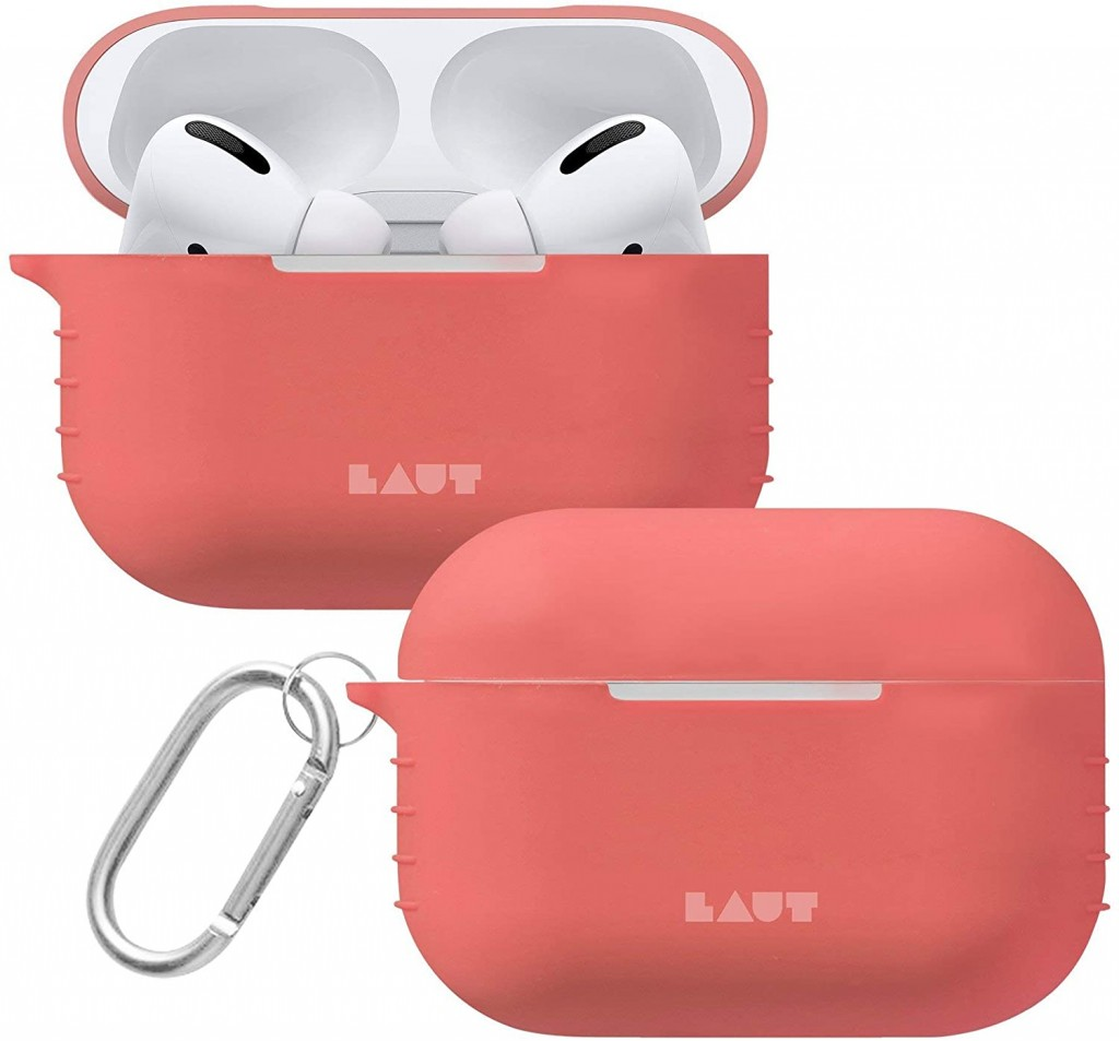 LAUT POD for AirPods Pro Coral, Silicone, Charging Case, Anti-scratch case, Apple AirPods Pro
