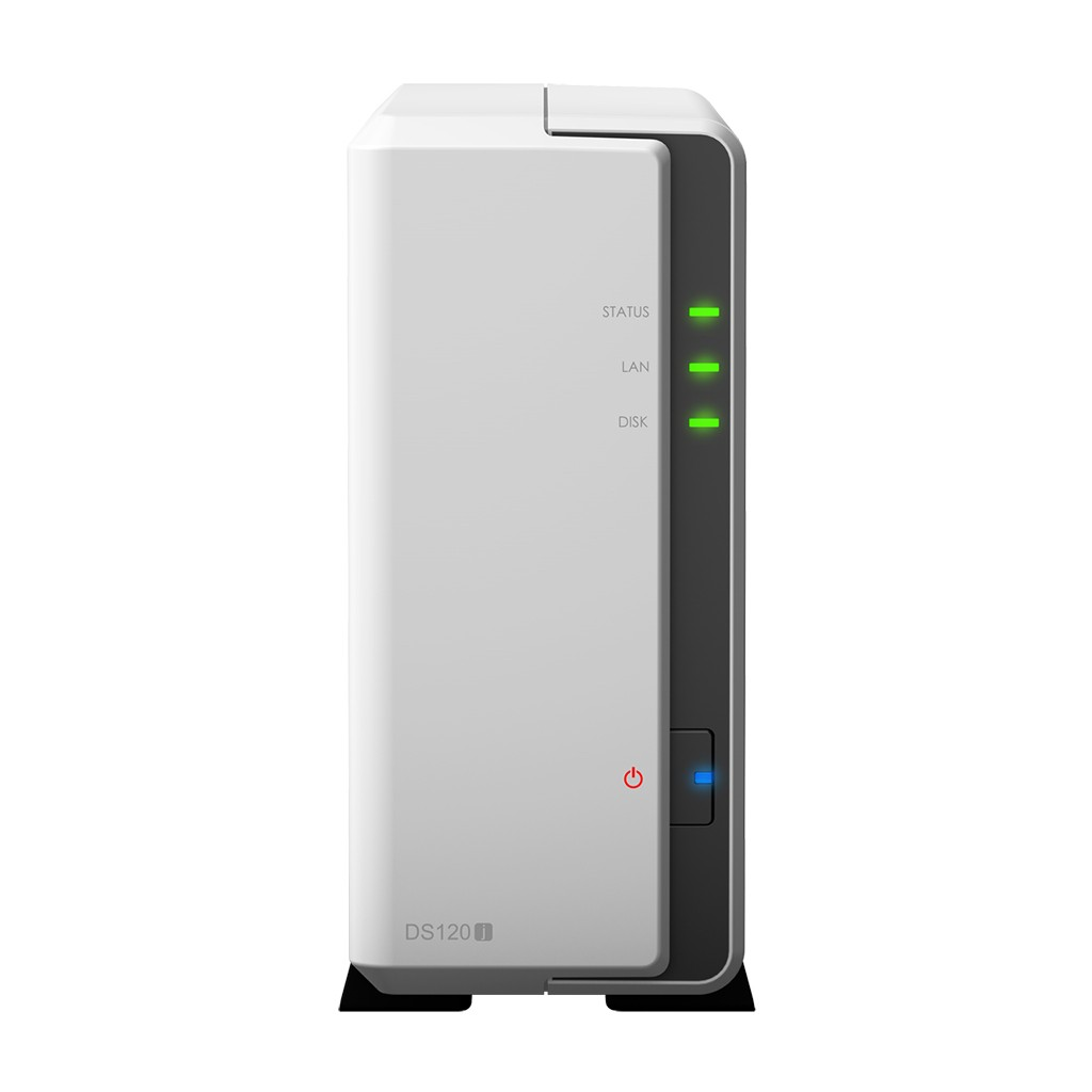 Synology Tower NAS DS120j up to 1 HDD/SSD, Marwell, Armada 3700 Dual-Core, Processor frequency 0.8 GHz, 0.5 GB, DDR3, 1x1GbE, 2xUSB 2.0