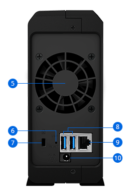 Synology Tower NAS DS118 up to 1 HDD/SSD Hot-Swap, Realtek RTD1296 Quad Core, Processor frequency 1.4 GHz, 1 GB, DDR4, 1x1GbE, 2xUSB 3.0, Single Fan