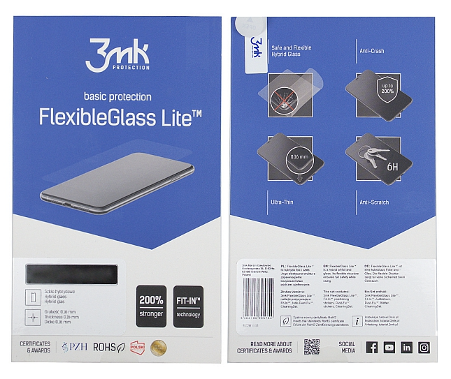 3MK Flexible Glass Lite Galaxy A50, Samsung, Hybrid Glass, Clear, Clear Screen Protector